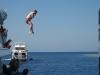 W przerwie - dla twardzieli skoki do wody