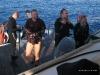 Po nurkowaniu: Mariusz, Piotr, Adam i Marta